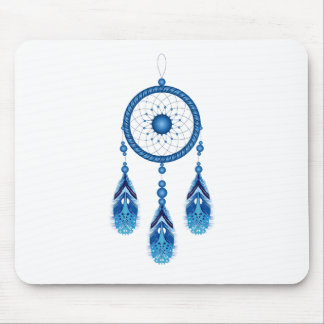 Blue Dreamcatcher Mouse Pad