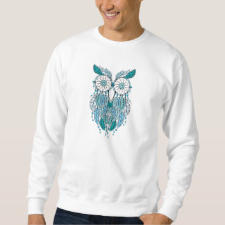 blue dreamcatcher owl sweatshirt