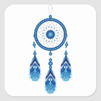 Blue Dreamcatcher Square Sticker