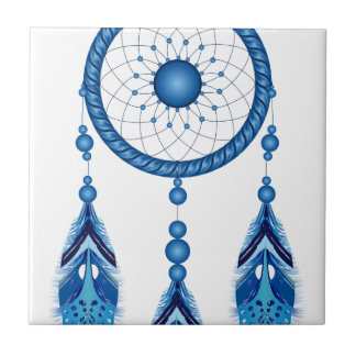 Blue Dreamcatcher Tile