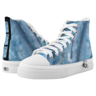 Blue Dreams High Top Sneakers