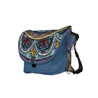 Blue Dreams Medallion Courier Bag