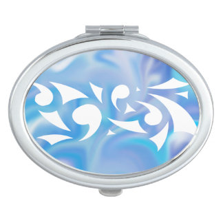 Blue Dreams (Oval Compact) Compact Mirror