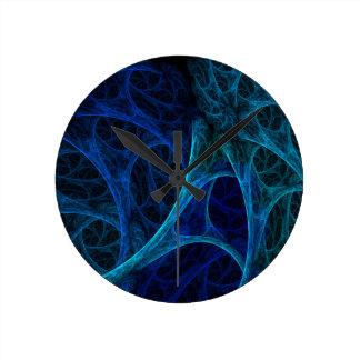 Blue Dreams Round Clock