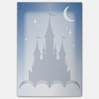 Blue Dreamy Castle In The Clouds Starry Moon Sky Post-it Notes