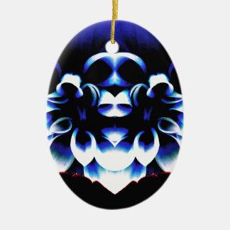 Blue Dreamz Ceramic Oval Ornament