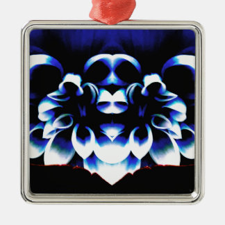Blue Dreamz Silver-Colored Square Ornament