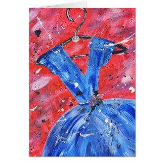 Blue dress card