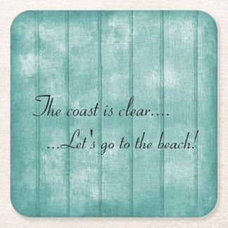 Blue Driftwood Beach Coaster