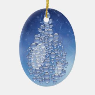 blue drop ceramic ornament