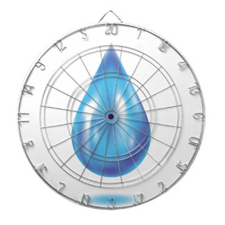 Blue drop dartboard