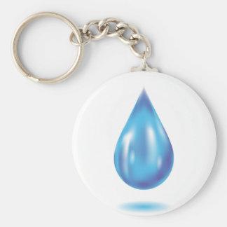 Blue drop keychain