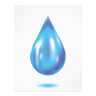 Blue drop letterhead