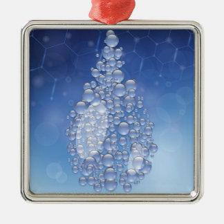 blue drop metal ornament