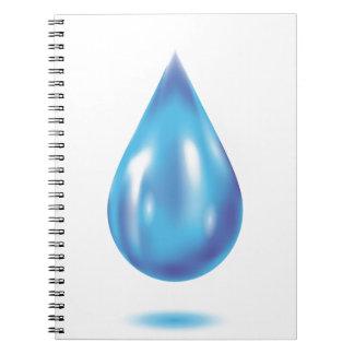 Blue drop notebook