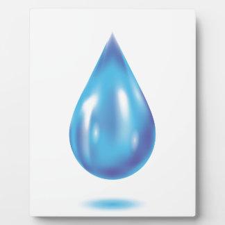 Blue drop plaque