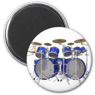 Blue Drum Kit: 10 Piece: Magnet