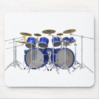 Blue Drum Kit: 10 Piece: Mouse Pad