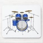 Blue Drum Kit: Mouse Pad