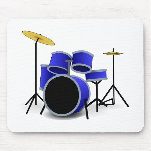 Blue Drums Mouse Pads