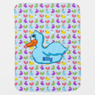 Blue Duck Baby Blanket