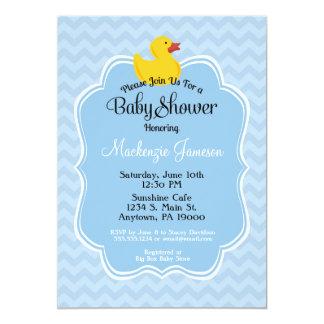 Blue Duck Boy Baby Shower Invitation