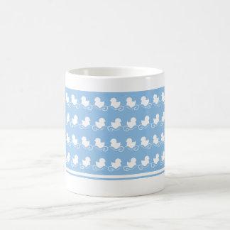 blue ducks in row tea mug