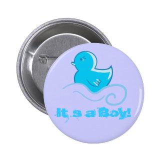 blue ducky It`s a boy button