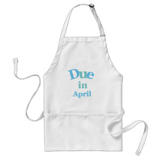 Blue Due in April Standard Apron