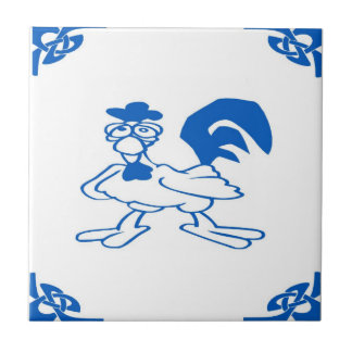Blue Dutch Chicken Tile
