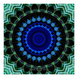 Blue Dwarf Mandala Poster
