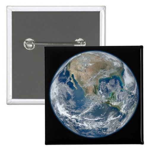 Blue Earth Pinback Button