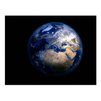 Blue Earth From Space - Globe World Home Postcard