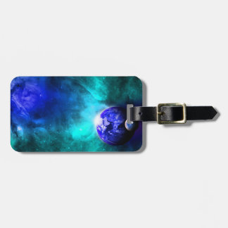 Blue Earth Moon Space Luggage Tag