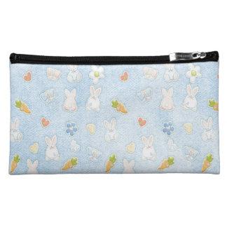 Blue Easter Pattern Makeup Bag