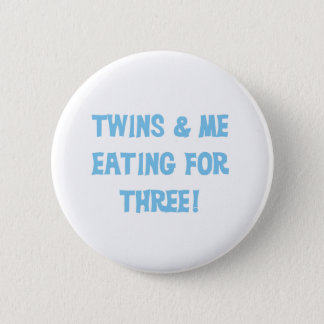 Blue Eating For  Three 2 Inch Round Button