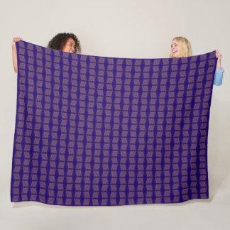 Blue Egyptian Dragonfly Silk Mosaic Pattern Fleece Blanket