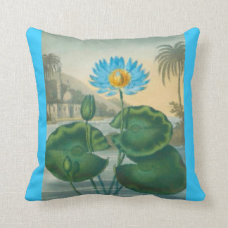 Blue Egyptian water lily Pillow