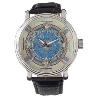 BLUE EGYPTIAN ZODIAC STYLE 1 WRIST WATCH