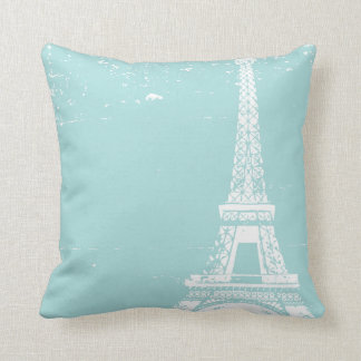 Blue Eiffel Tower Custom Cotton Pillows