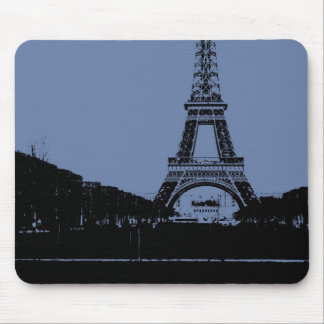 Blue Eiffel Tower Mousepad