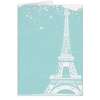 Blue Eiffel Tower Wedding Thank You Cards