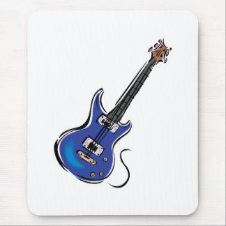blue electric guitar mouse pad