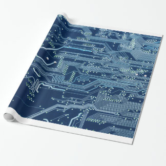 blue electronic circuit board computer pattern