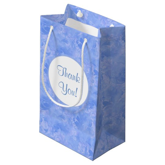 Blue Elegance Aqua Subtle Winter Azure Sapphire Small Gift Bag