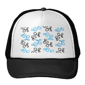 Blue elegance trucker hat
