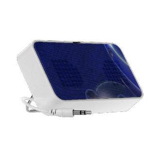 Blue elegant abstract design speaker system