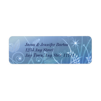 Blue Elegant Address Labels with Stars