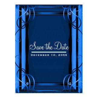 Blue Elegant Company Corporate Save the Date Postcard