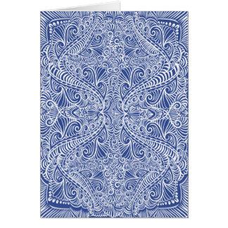 Blue Elegant flow Pattern Card